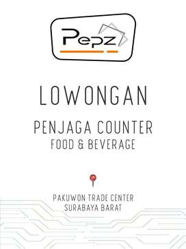 Lowongan penjaga counter Food and Beverage retail mall - Pepz