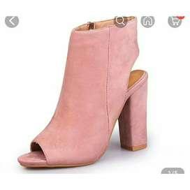 Pink sweat heels