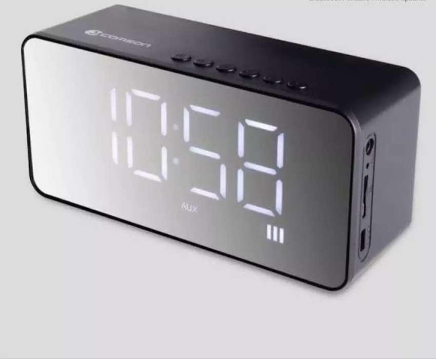 Jam Speaker Bluetooth Suara Mantap 0