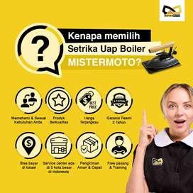 Setrika Uap Laundry Konveksi Gas MISTERMOTO 35ltr 1 Setrika