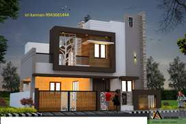 New 3 Bhk-1600 sft Gated Community villas/House for sale in vadavalli.