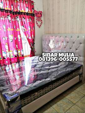 Spring Bed 6Kaki SET Plus Top GARANSI