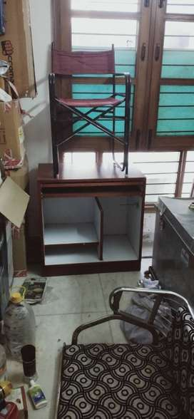 Study Table with Chair , have glass cover , as we