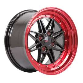 jual velg HSR-Kawai-133-Ring-15x7-8-H4x100-ET18-Black-Red-Lips