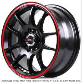 gaya trendy velg racing KAMIKAZE 11033 HSR R15X65 H8X100-114,3 ET40 S