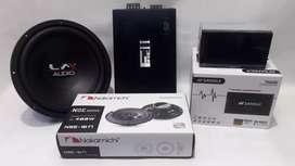 Doubledin sansui + 1 set audio power FIREll sub lm speaker nakamichi