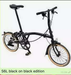 BROMPTON S6L Black ON Black Edition 2020