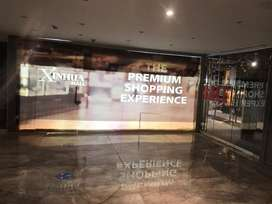 Xinuha Mall Shop on Mirror wall at Front of the shop
