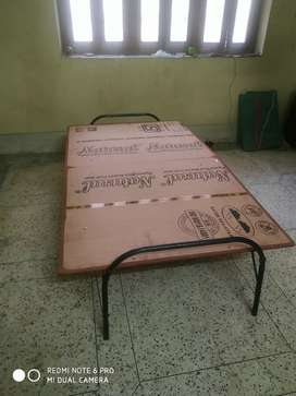 New wooden folding bed 3.5*6 only 2 months old. Kedar nagar Sunderpur