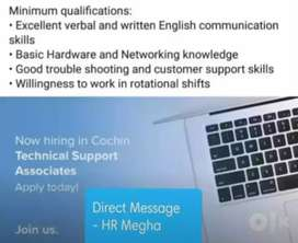 Hiring for Technical support International voice process