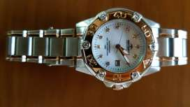 Rotary Ladies watch mother of pearl dial diamond numerals ladies watch