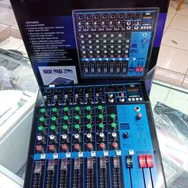 Audio Mixer 8Channel HARDWELL SLK8 SLK 8 ch Bluetooth USB Efek REVERB