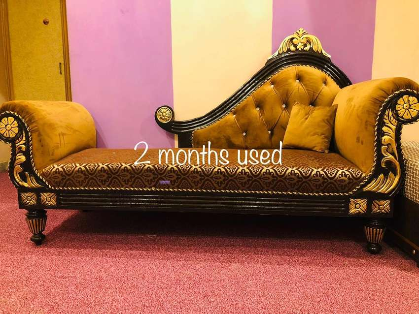 chinyoti Divan Marvellous Sette Deewan bed sofa almari table diningnew 0