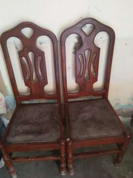 6 Wood Chairs and Dining Table