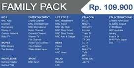 Pasang Indovision Mnc Vision Family Pack tv tahan hujan resmi garansi