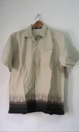 Kirim Free COD _ Kemeja Ori Tangan Pendek Size L-XL