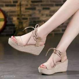Sandal sepatu wanita wedges high heels murah