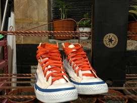 Converse CT Hi White Mix Orange-Blue Original size 43