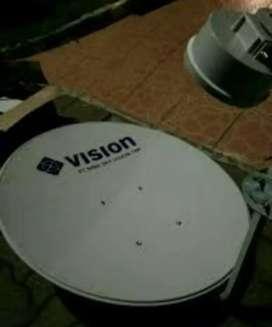 Indovision Mnc Vision Family Pack tv parabola cepat pasang nya