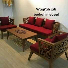Kursi tamu ukiran mewah, 3,1,1, bahan kayu jati tua asli terbaik
