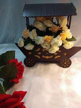 Flowers and chocolates bookeh wooden basket price 1900