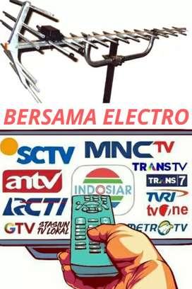 Instalasi pemasangan signal antena tv terdekat pondok melati