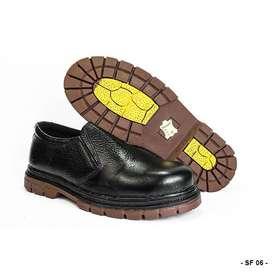Sepatu Safety Pendek Untuk Kerja Lapangan Bahan Kulit Sapi Asli SF 06
