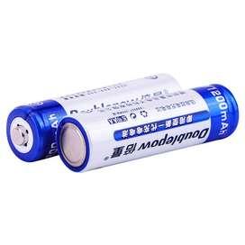 Baterai Charger Rechargeable Alkaline AA 1200mAh 2 PCS - DOUBLEPOW