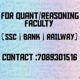 Quant / Reasoning Faculty available