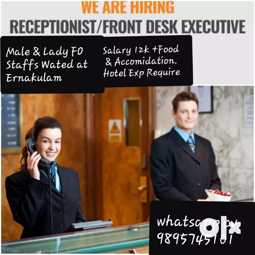 Front Office Executive for a star Hotel at Ekm 0