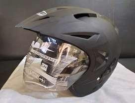 Helm ZIP Double Visor SNI Black Doff Busa Bisa Dilepas