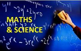 Science and Maths tution available