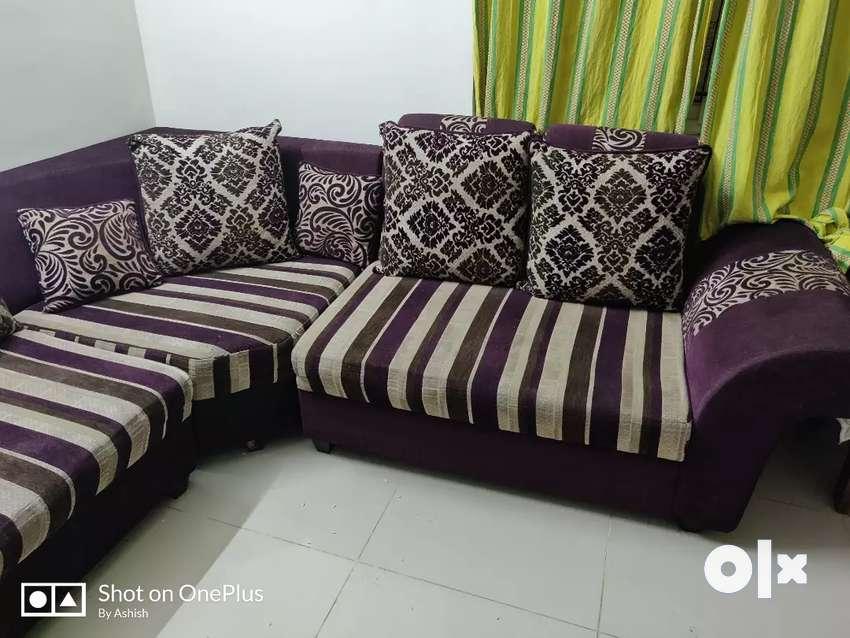 L-shape sofa 0