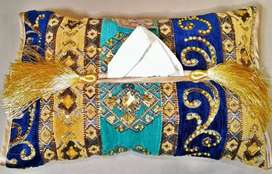 Hand Embroidered Tissue Box Covers with FREE Shipping