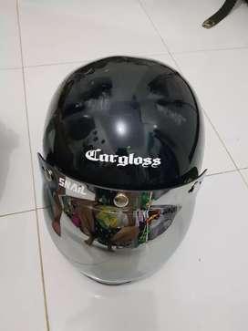 Helm cargloss custon with visor bubble chrome