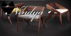 kursi trembesi wood stool trembesi ready stock Perkakas rumah E12L