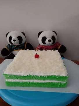 Bolu pandan toping