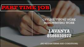 HANDWRITING JOB-PART TIME JOB(WORK FROM HOME)
