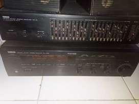 YAMAHA sound graphic equalizer EQ-70 & sound stereo receiver RX-V480