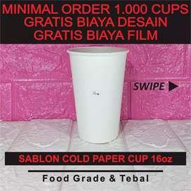 Sablon Paper Cup 16 oz