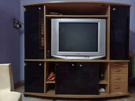 TV stand with Sony tv