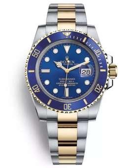 Jam tangan Rolex submariner stainless mesin otomatis free box original