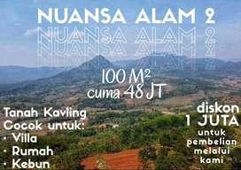 Tanah Murah Dekat Jalan Utama Bogor 100m2