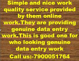 Typing Work Data entry & Home Based Job Part time online/offline work.