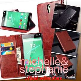 M&S ACCBEST123 - Leather Flip Cover Wallet Sony Xperia C5 Ultra Casing