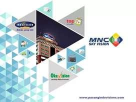Indovision Mnc Vision Parabola mini sinyal lancar kuat tahan hujan