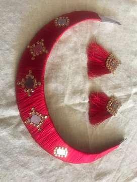 Neck kaddi with ear rings