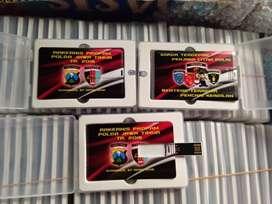 Souvenir Flashdisk Card Kartu Metal Kulit Kayu OTG Grafir Laser Print