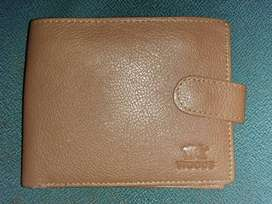 Imported Brown And Black Leather Woode Wallet For Men