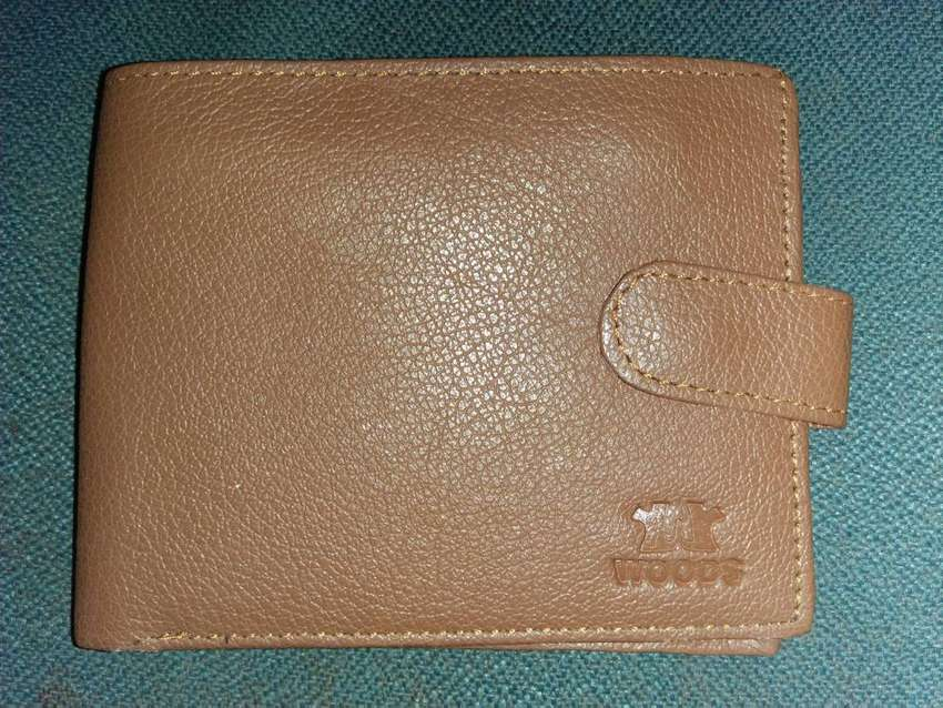 Imported Brown And Black Leather Woode Wallet For Men 0